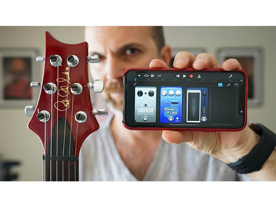 Appleの音楽制作アプリ「GarageBand(iOS版)」に表情を読み取る新機能が追加。まさに「顔シレーター」