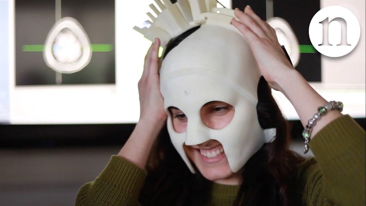 脳磁図を測るスキャナーがウェアラブルに超進化! でもルチャ・リブレのマスクみたい