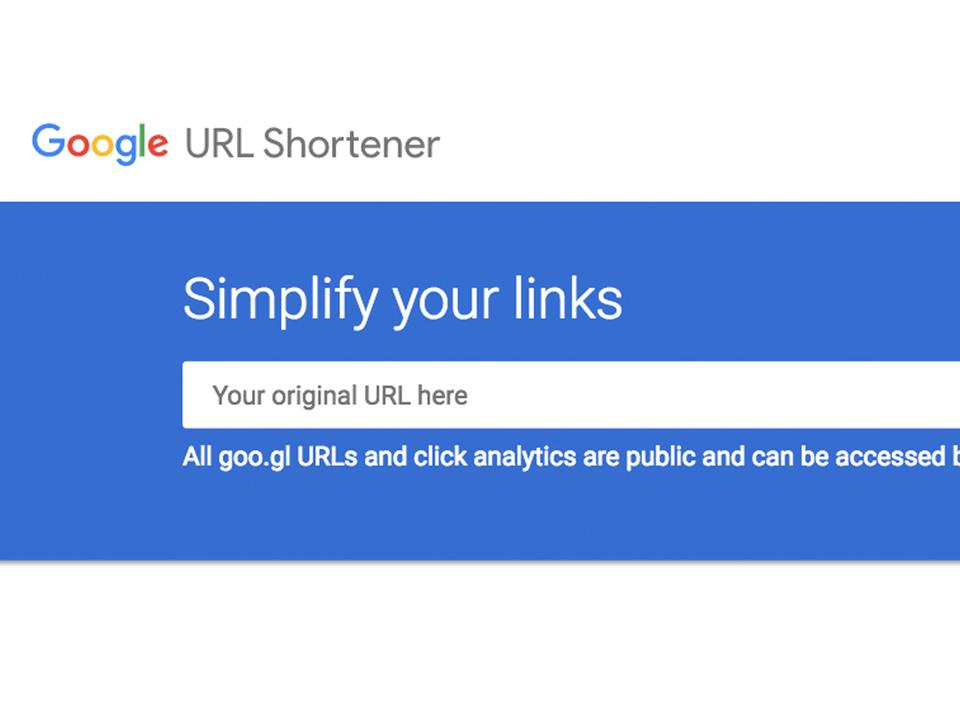 GoogleのURL短縮サービス「goo.gl」2019年3月30日に終了へ