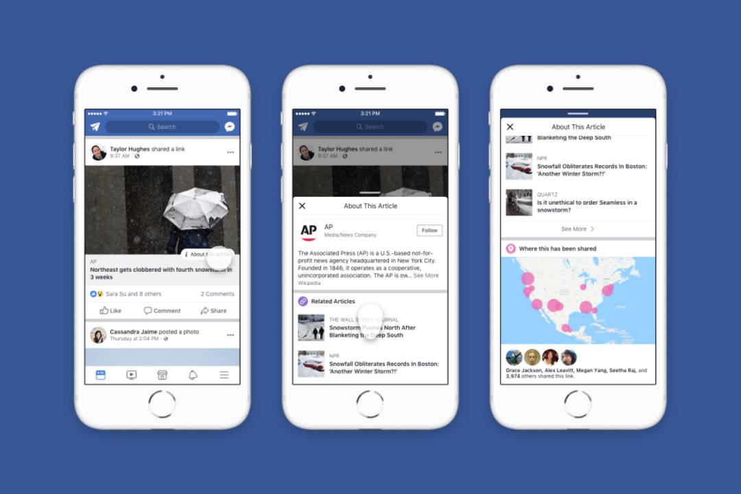 Facebookのユーザー寄りフェイクニュース検証ツール、米国で本格始動