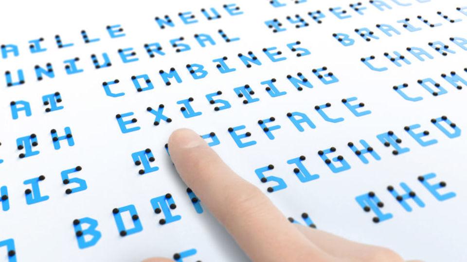日本人デザイナーが手がけた、文字と点字が共存するフォント「Braille Neue」