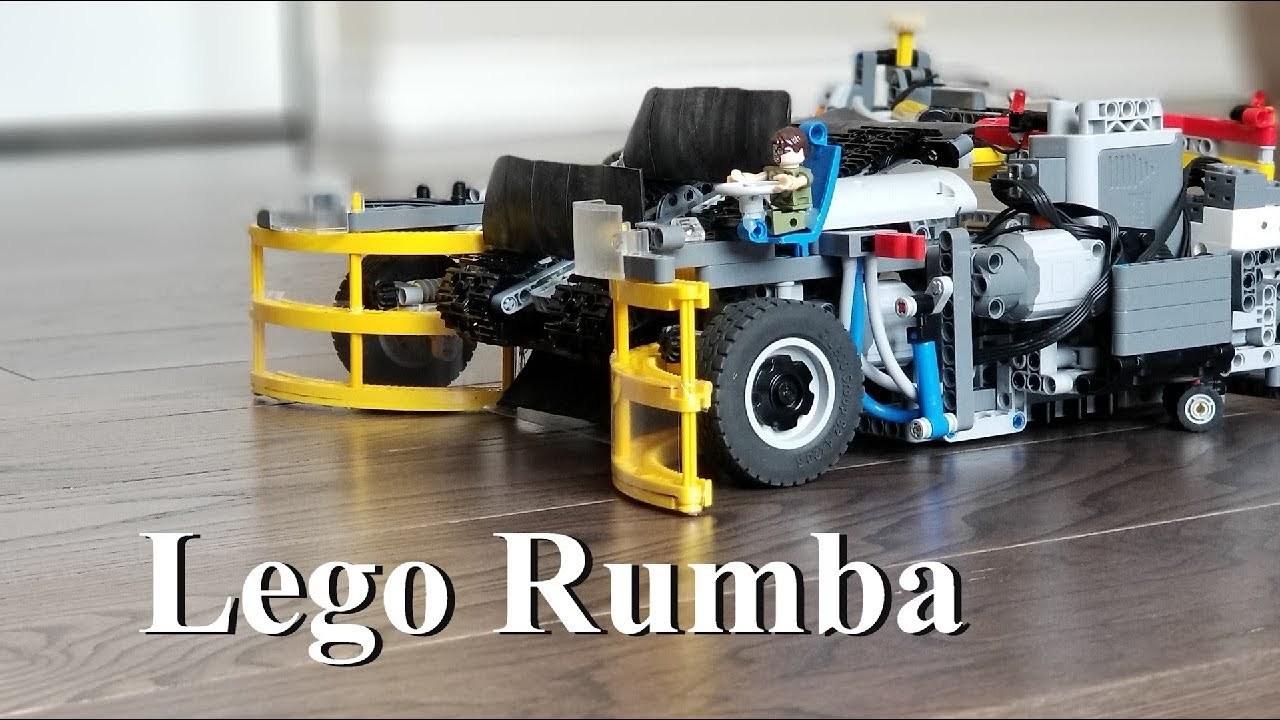 アームも付いてて機能的。レゴで作ったルンバ的なお掃除ロボット