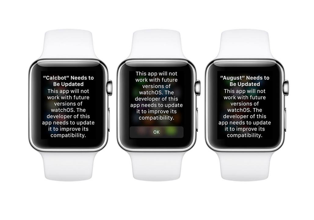 初代アプリは注意? 最新watchOSで起動時に注意が表示