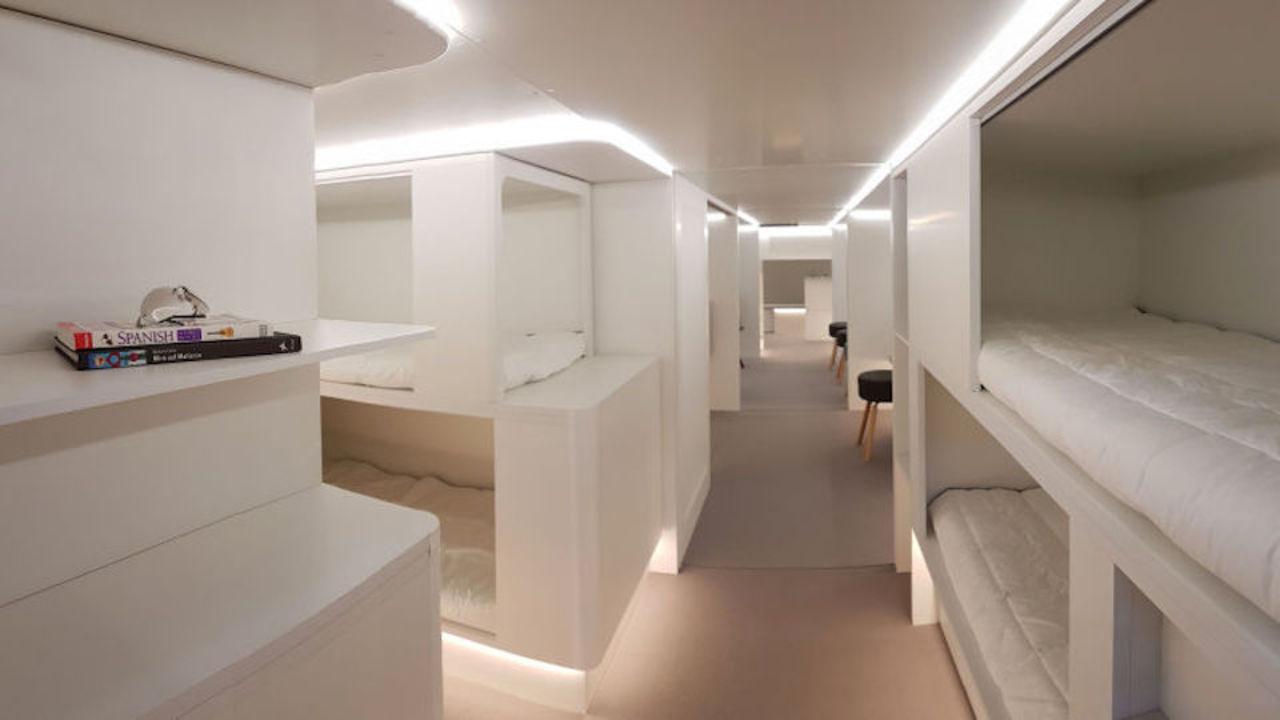 Airbusが考えた飛行機の内装プラン。専用ベッドでのびのび、空の旅がとっても快適になりそう