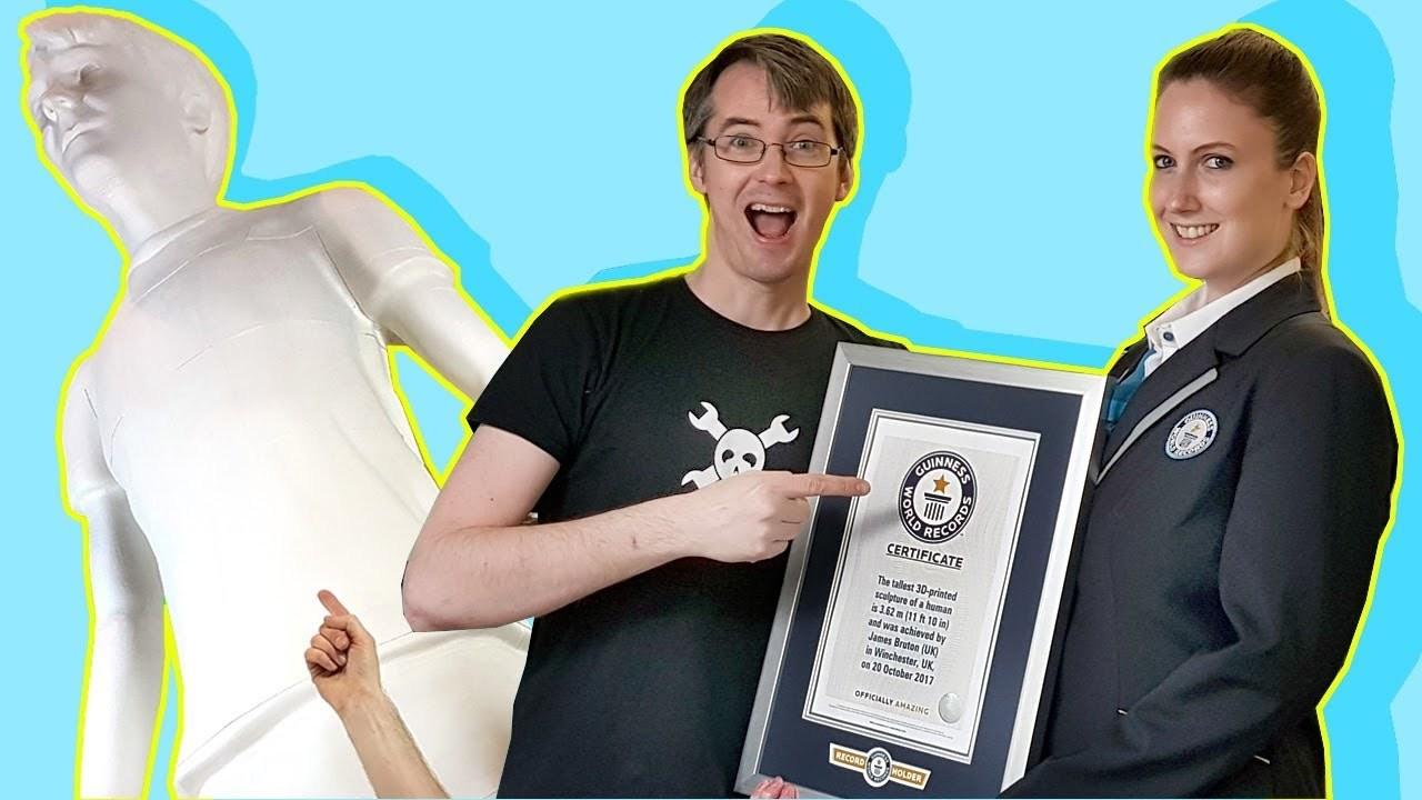 ユーチューバーが作った3Dプリント立像がギネス世界記録を取得