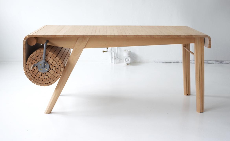 まきまきしながら長さを調節できるテーブル「@」
