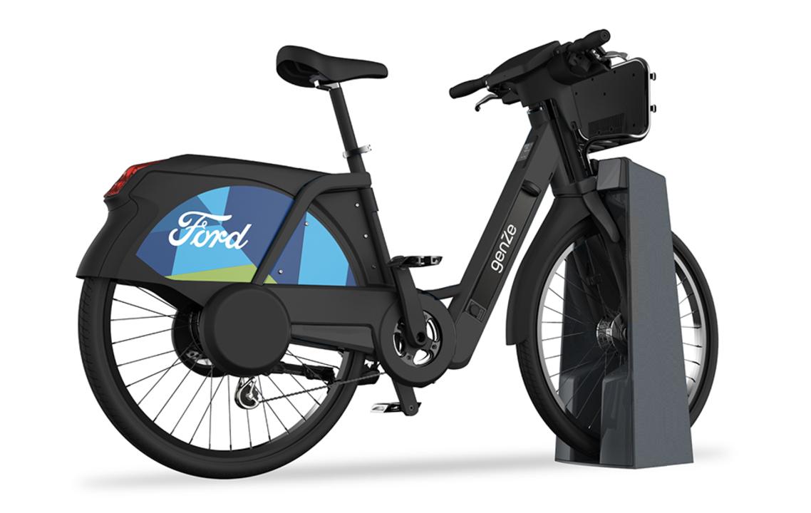 フォードのeバイク・シェアリング・サービス「GoBike」。マット・ブラック塗装でカッコいい