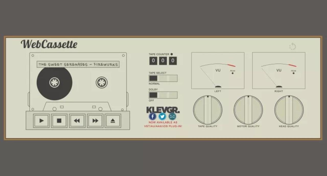 懐かしさに涙しそう。mp3をカセットプレイヤー音質で再生できるウェブアプリ