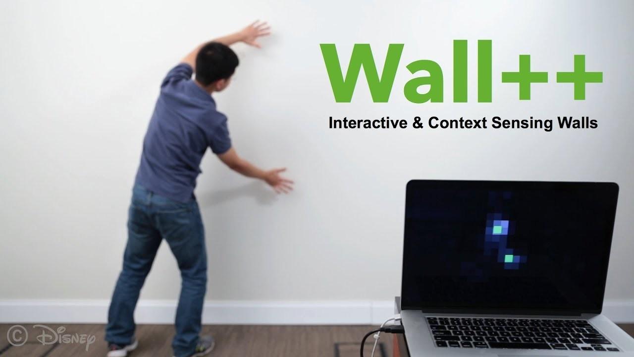 壁全体をタッチスクリーンのようなセンサーにしてしまう研究「Wall++」