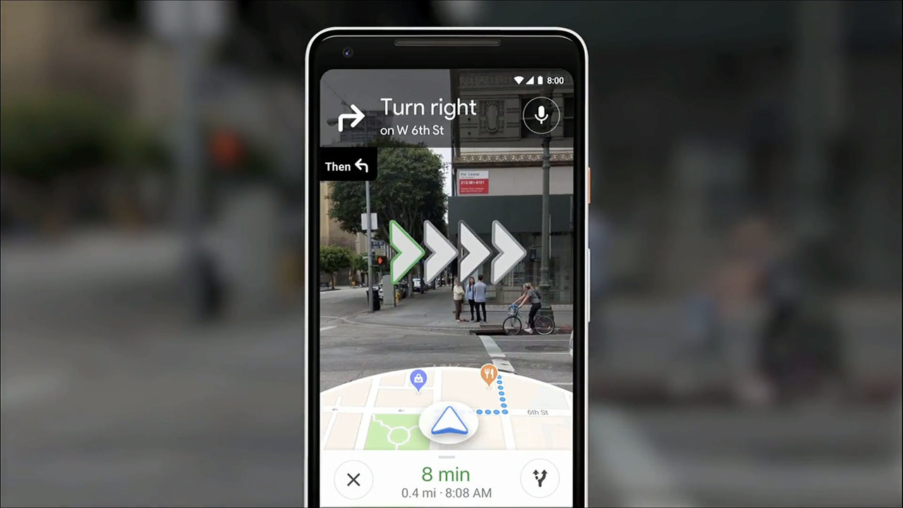 正しい道がハッキリわかる。GoogleマップにARナビがやってくるぞ! #io18