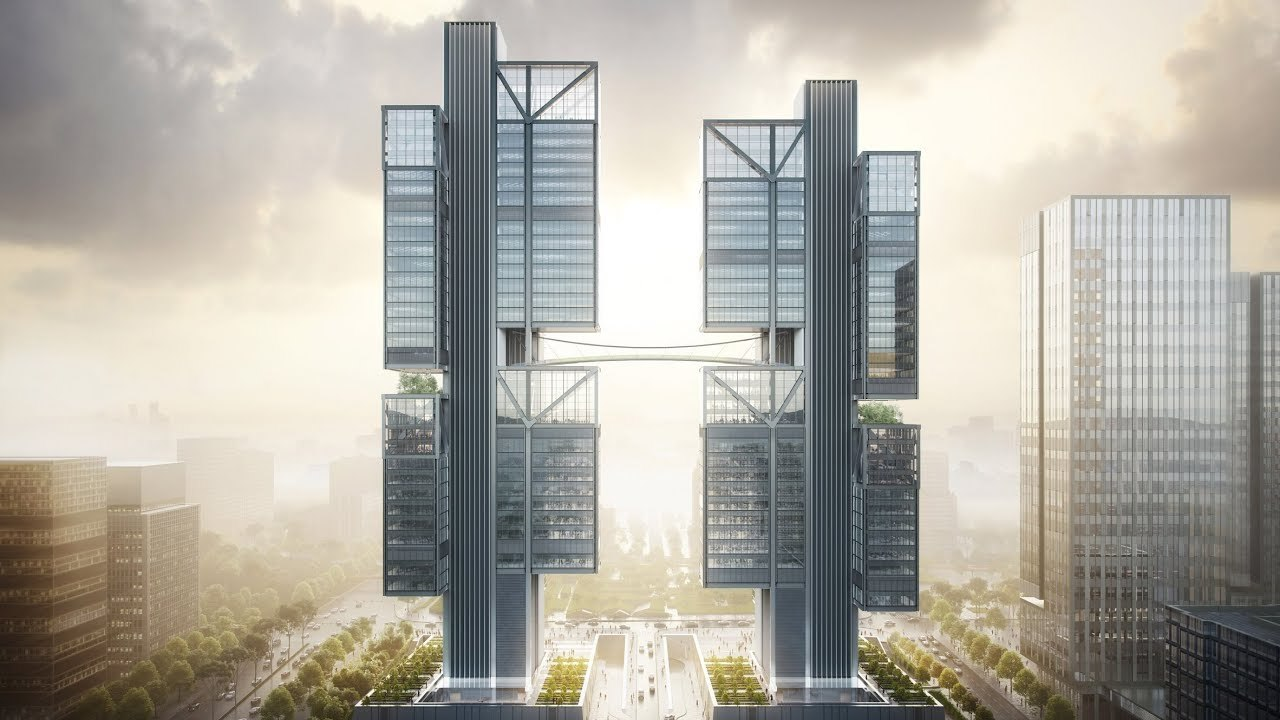 DJIの新オフィス、完全にSFの世界だしここをドローンが飛ぶとか未来過ぎる