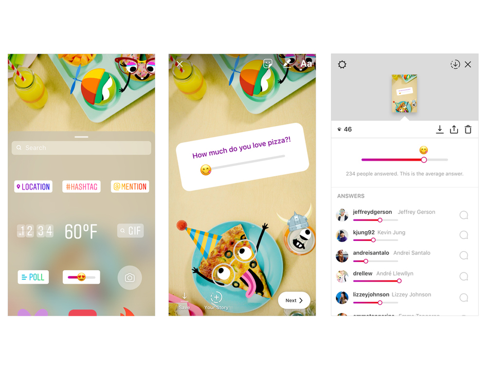 Instagram、ストーリーに「絵文字スライダー」機能を導入