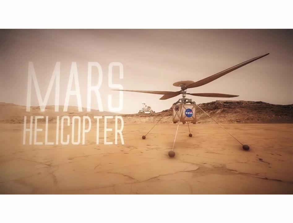 NASAが火星の上空写真を撮影するヘリコプターを開発中
