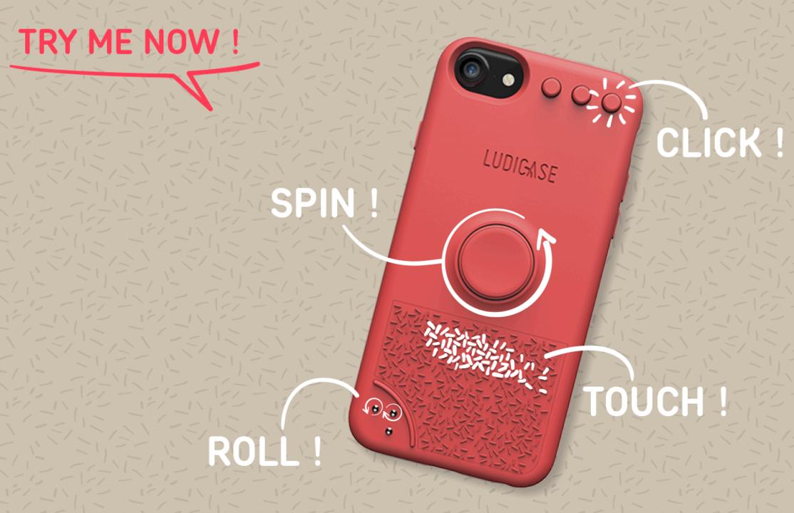 まさにスマホ版ハンドスピナー。フィジェット型iPhoneケース「LUDICASE」がキャンペーンを開始