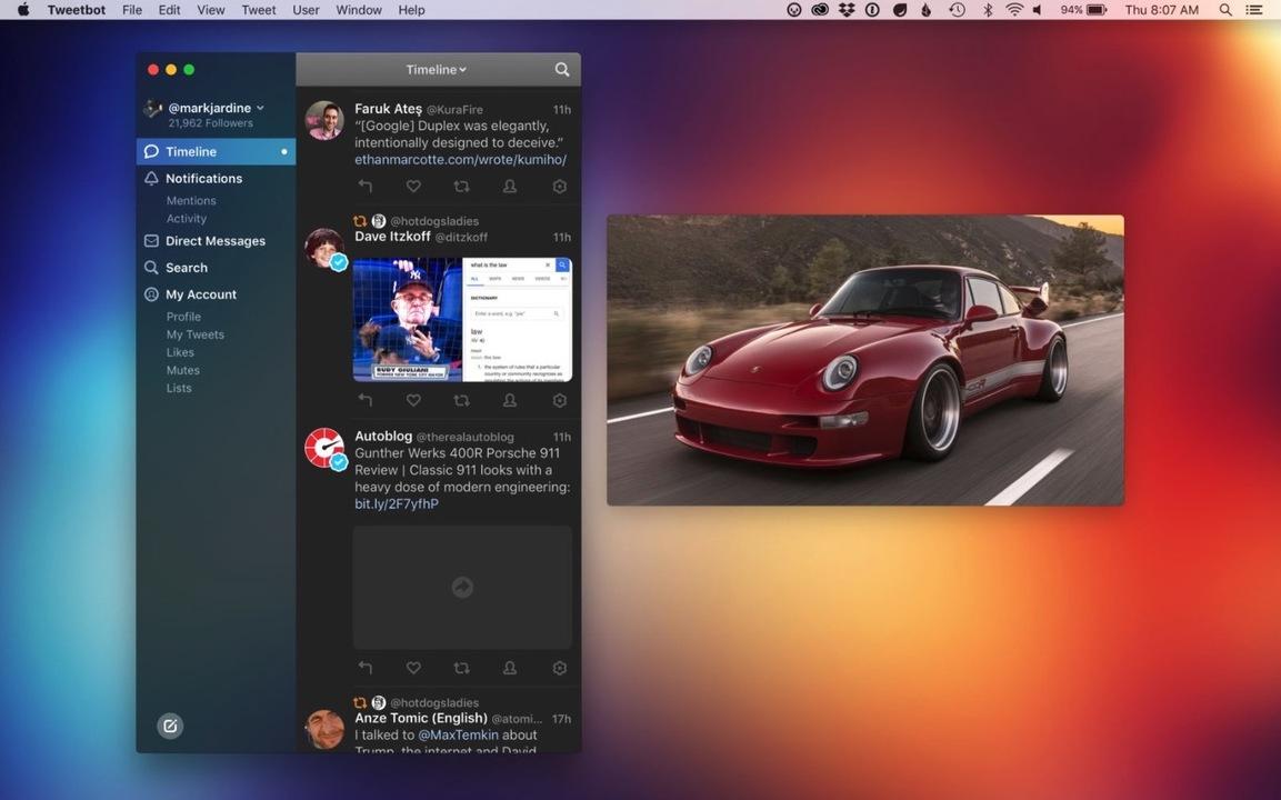Macで使えるTwitterクライアント「Tweetbot 3」リリース。ダークモードがクール!