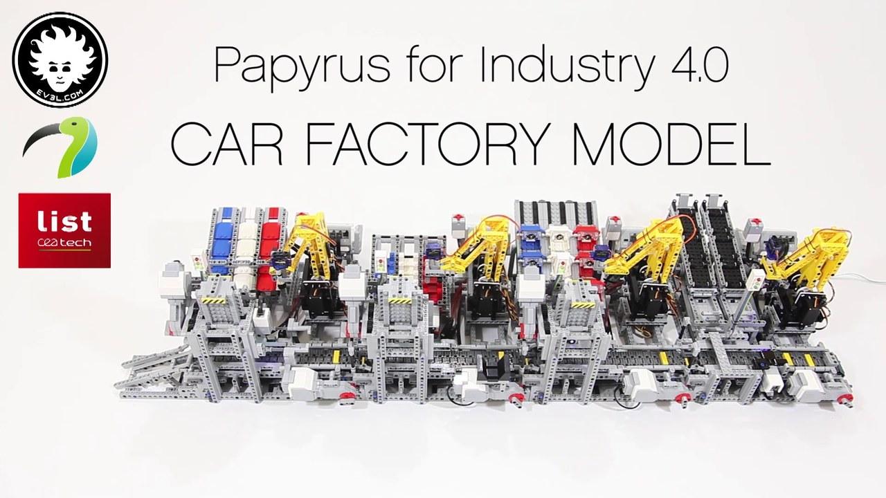 Teslaは見習うべきかも…レゴで作った、レゴのクルマ組立工場