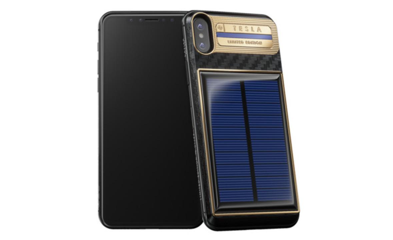 太陽光で発電するiPhone Xケース、なんと約50万円なり