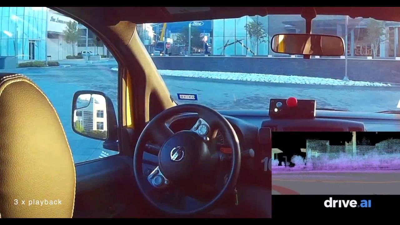 完全無人の自動運転車がドライブする様子。未来は着実にやってきてる