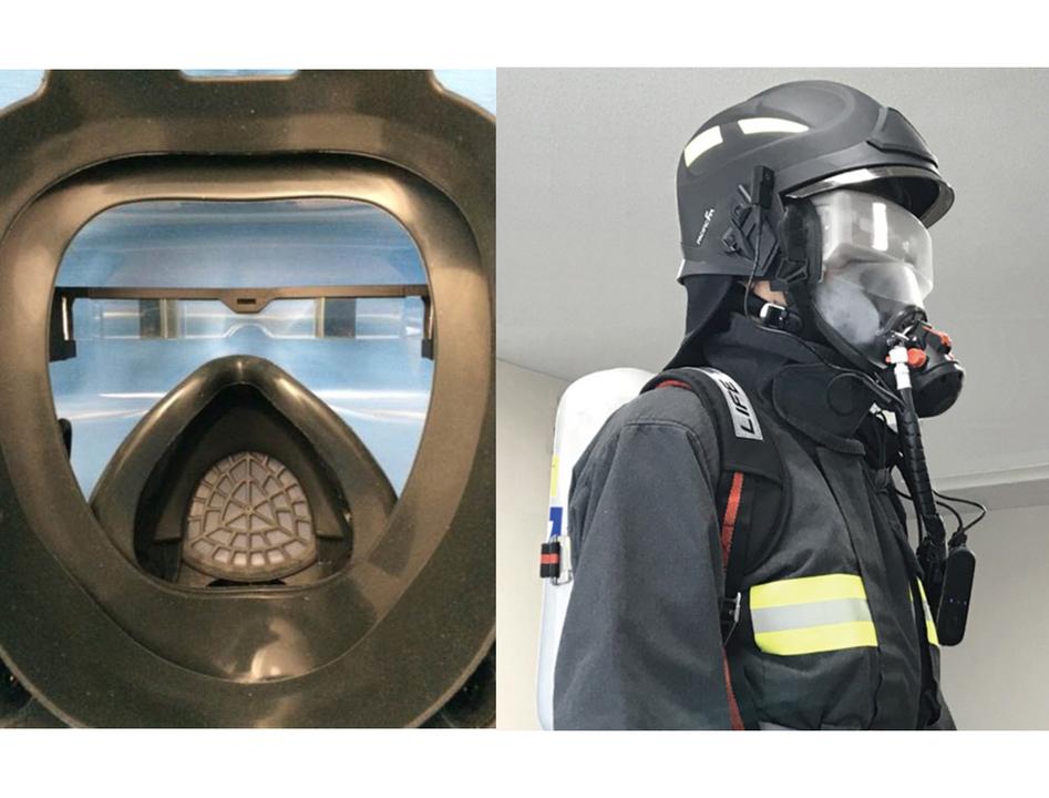 スマートグラス内蔵の消防救助用マスク、もはやSF級のかっこよさにシビれる…