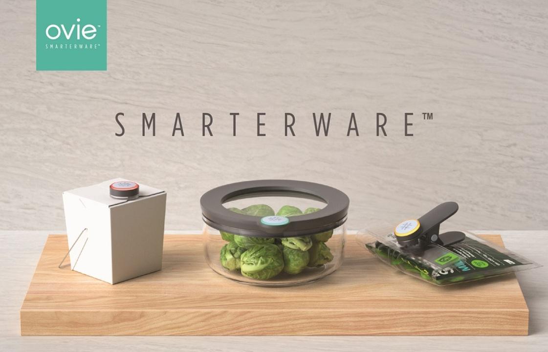 冷蔵庫にある食材管理をサポートしてくれるスマートデバイス「Ovie Smarterware」