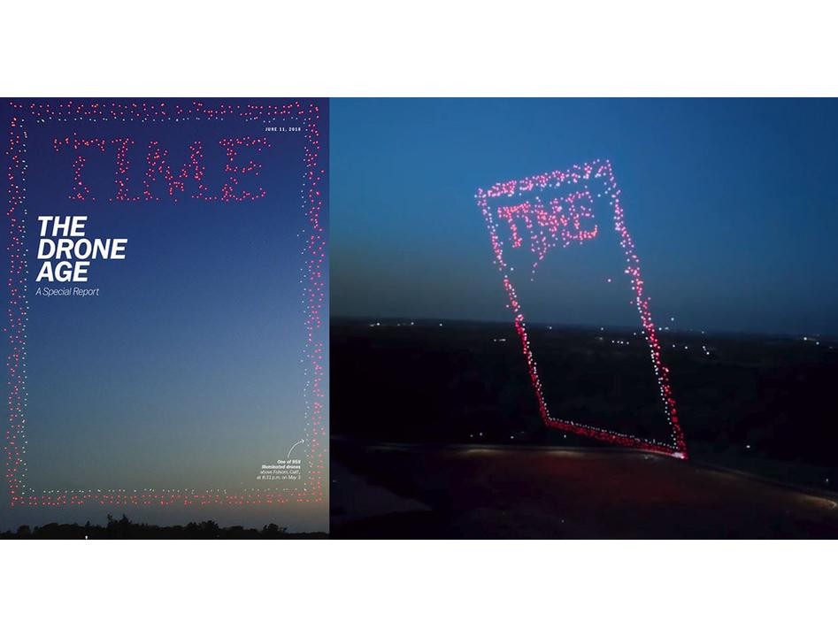 空の向こうに未来が見えた。TIME誌が958機のドローンを飛ばして表紙カバーを撮影