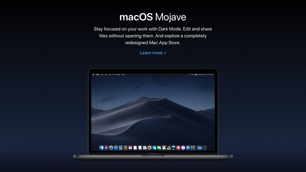 macOS Mojave、公式のカタカナ表記は「モハべ」です