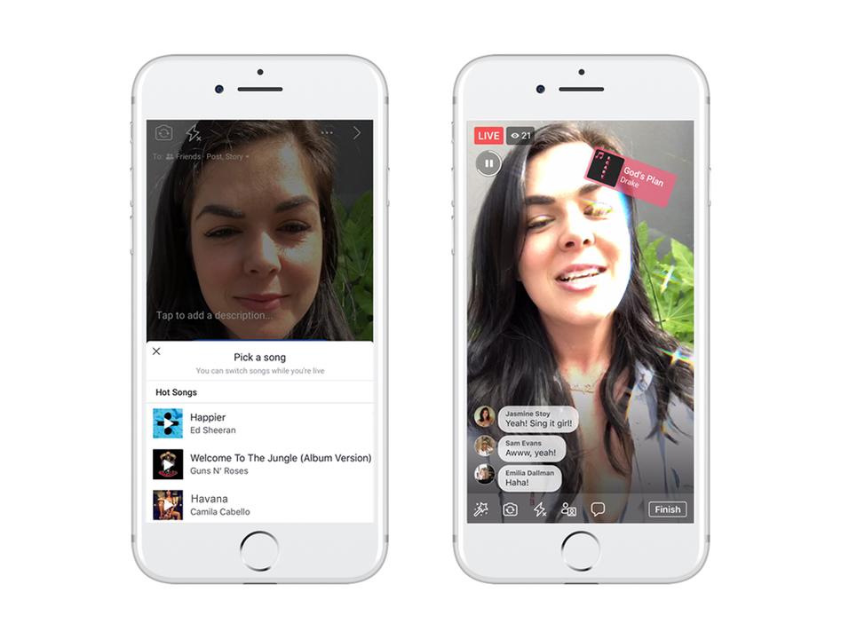 既視感ある…。Facebookが歌ってシェアする新機能「Lip Sync Live」発表