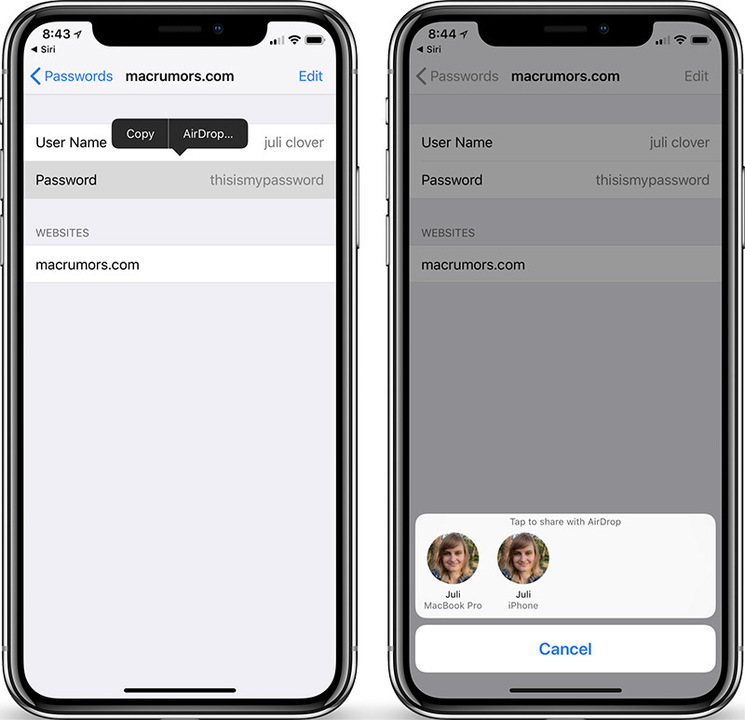 便利だけどちょっぴり怖い気もしない? iOS 12はAirDropでパスワードを共有できる