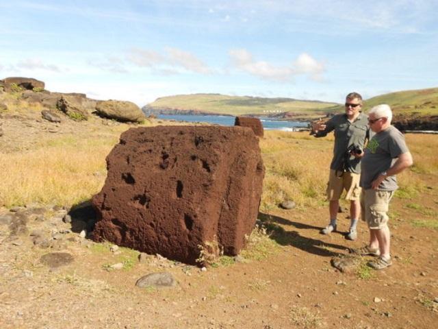 180611Moai4 - 【考古学】古代のポリネシア人がモアイ像に岩の帽子を被せた方法、解明される[06/12]