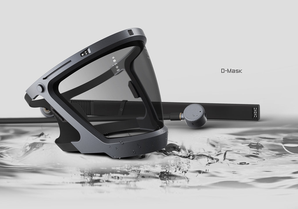 シールドがARスクリーンに!? 最新機能モリモリな、水中マスクのコンセプトデザイン