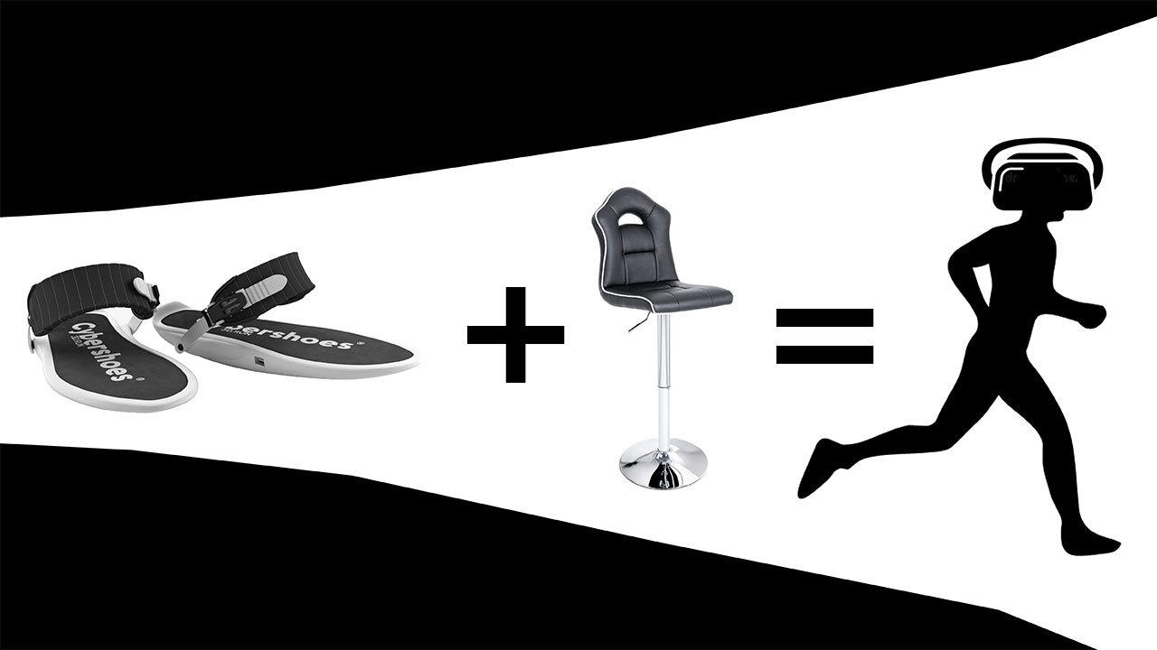 VR世界を歩くのにトレッドミルは不要だった…。靴底に履くVRソール「Cybershoes」