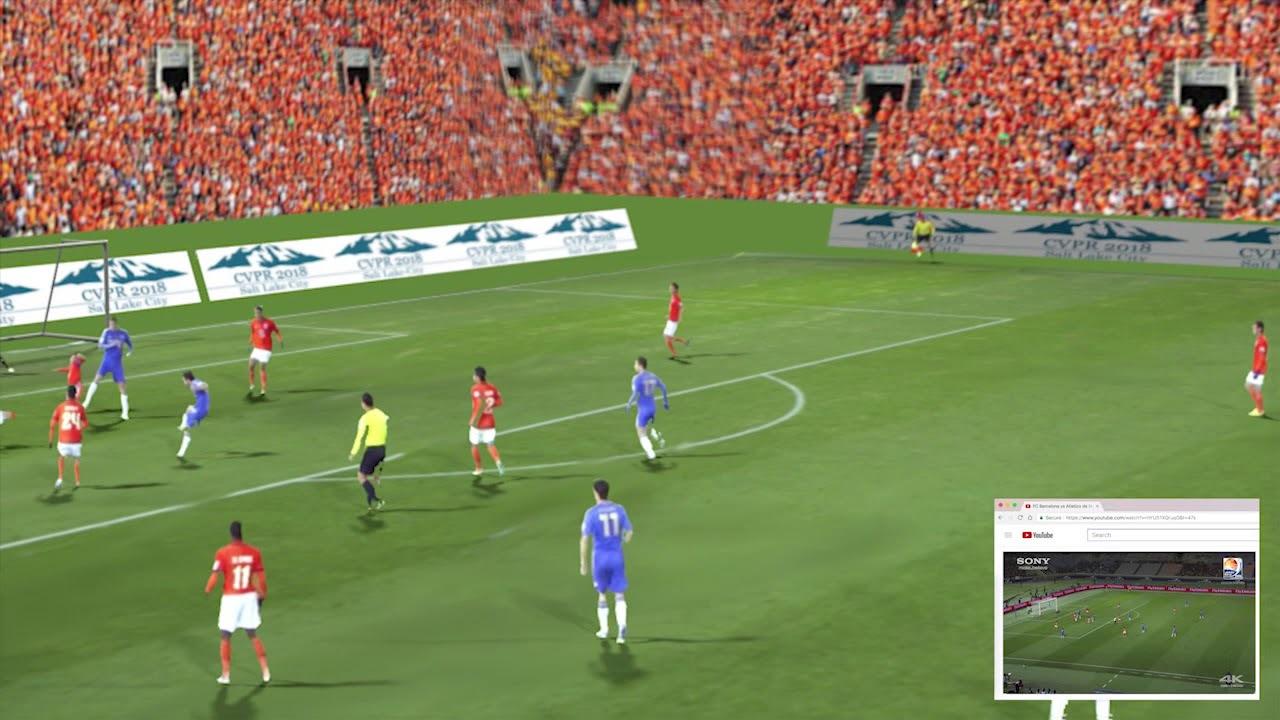 平面のサッカー映像をARに変換する研究。将来はテーブルでワールドカップが見れるかも?