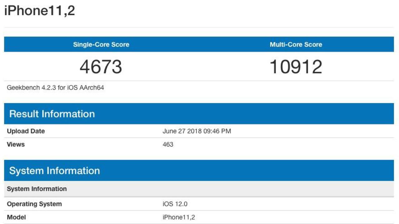 新型iPhoneと思わしきベンチマークが登場。RAMが4GBに?