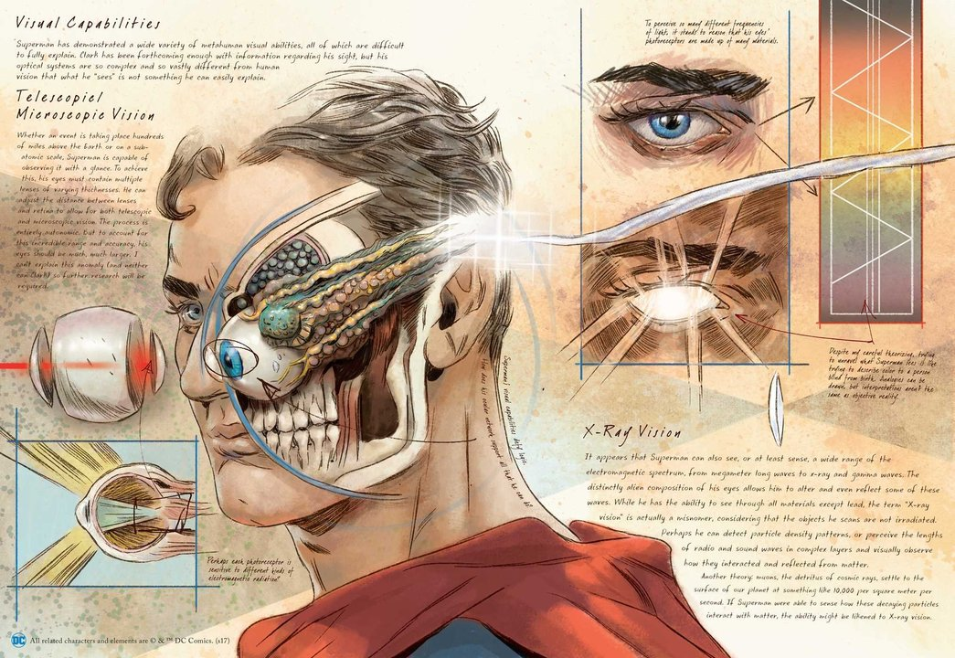 目から光線を出すスーパーマンってどんな体してんの? DCコミック・ヒーロー解剖図集