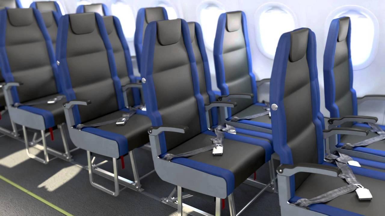 肘掛け争奪戦が減るかもしれない、スライド収納できる飛行機のエコノミー席