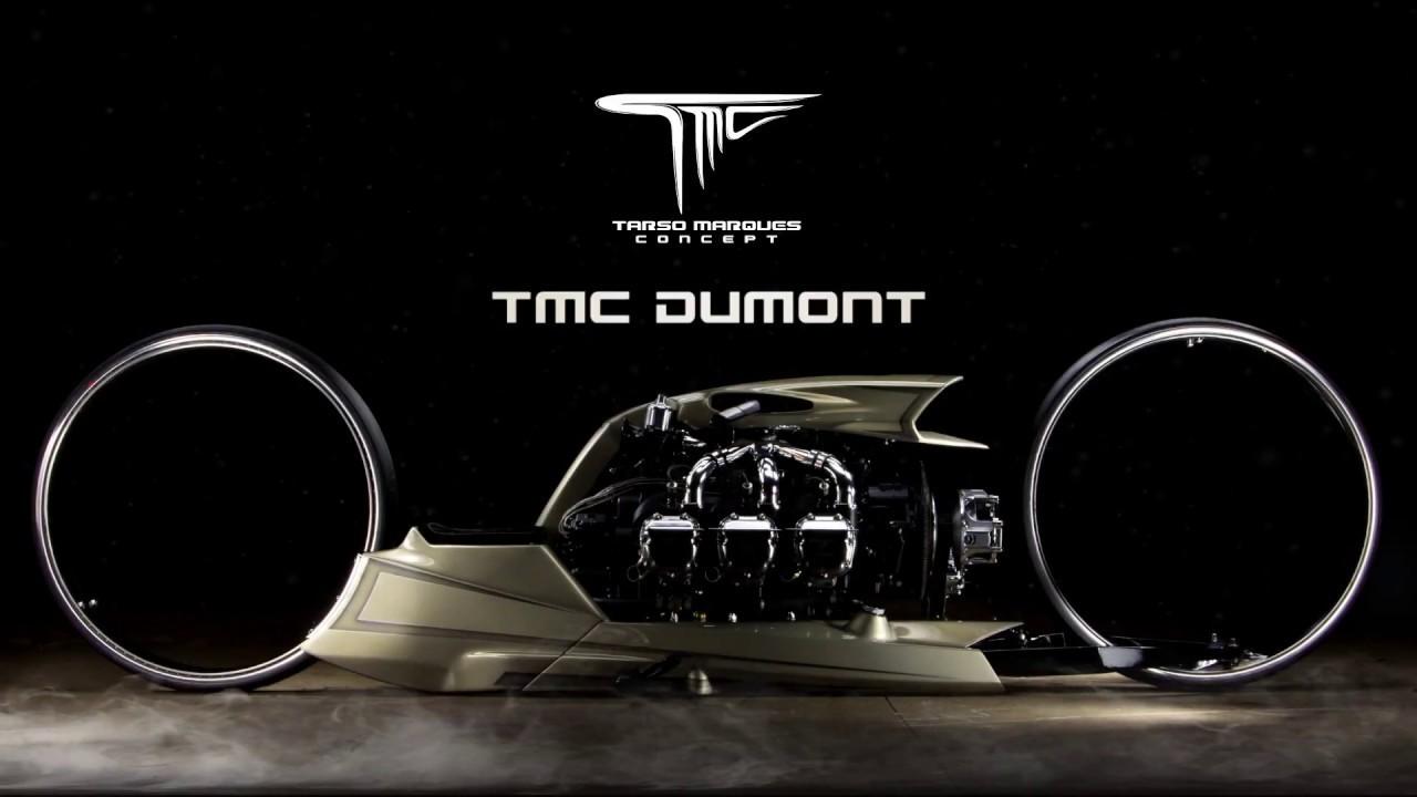 巨大車輪とロールス・ロイスの飛行機用6気筒エンジン丸出しのモンスターバイク