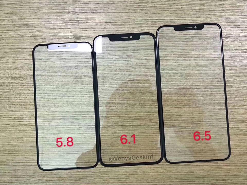 ぜーんぶノッチ付き! 3つの新型iPhoneのフロントパネルがリークか