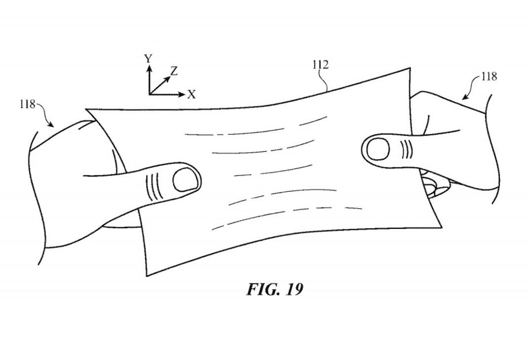 これで「ぴょん吉」Tシャツが作れるのでは。Appleがのび~るディスプレイの特許を取得
