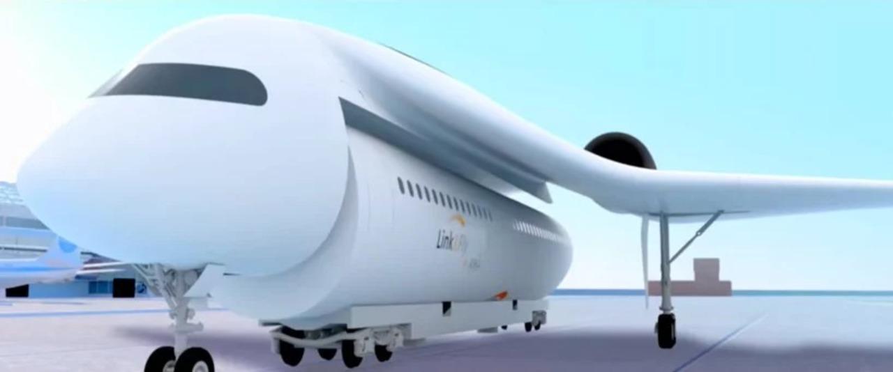 そこ取れちゃうの? 客室をコンテナのように運ぶ旅客機「Link&Fly」のコンセプト