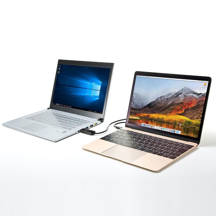 USB-CでMacBookにも対応。複数のPCをまるで1台のように操作できるリンクケーブルに片思い