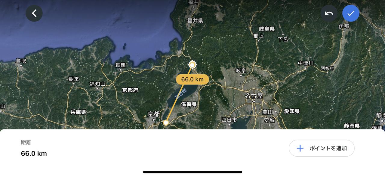 成田空港の滑走路は4kmなんだね。Google Earthで距離や面積が