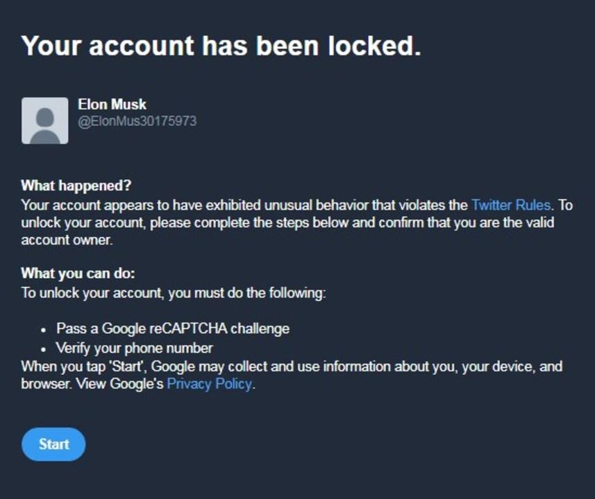 試さないでね、絶対にだよ! Twitterの新アカウント作成で名前を「Elon Musk」にしたらロックされちゃう!