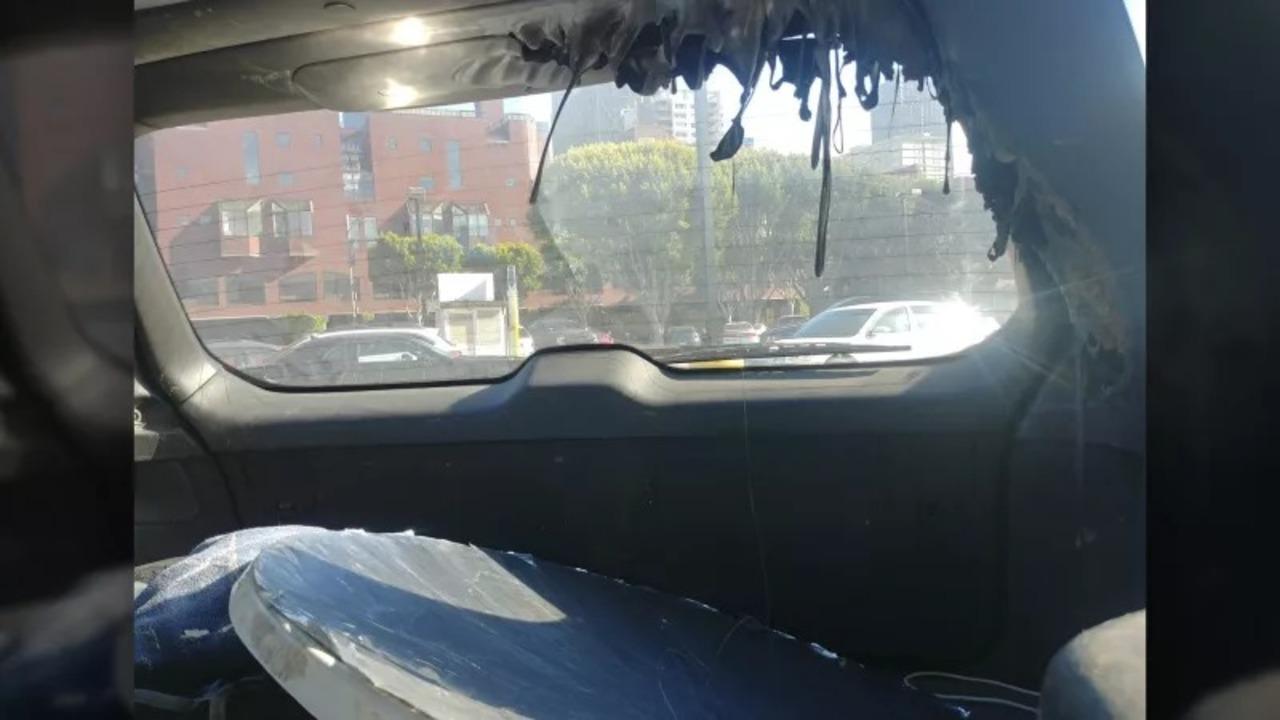 ドロドロ大惨事。日が照っているのにパラボラ鏡を車内に放置するとこうなる