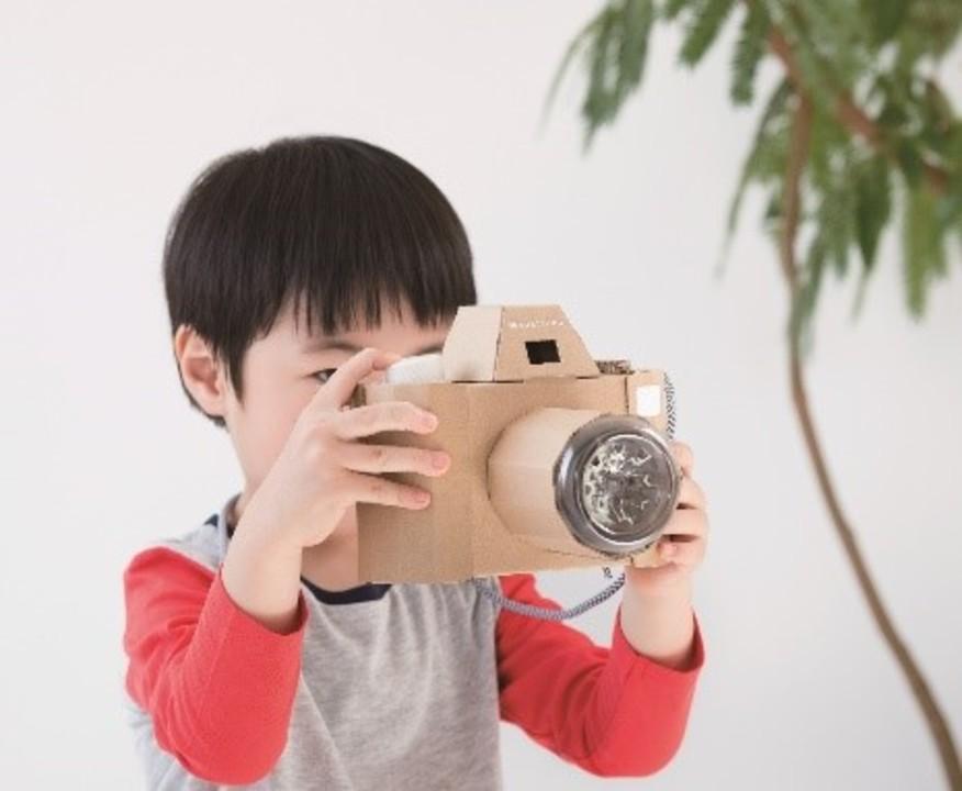 夏休みの工作はコレで決まりだね。ダンボールで作る「カメラ」「ハンドル」「フライパン」