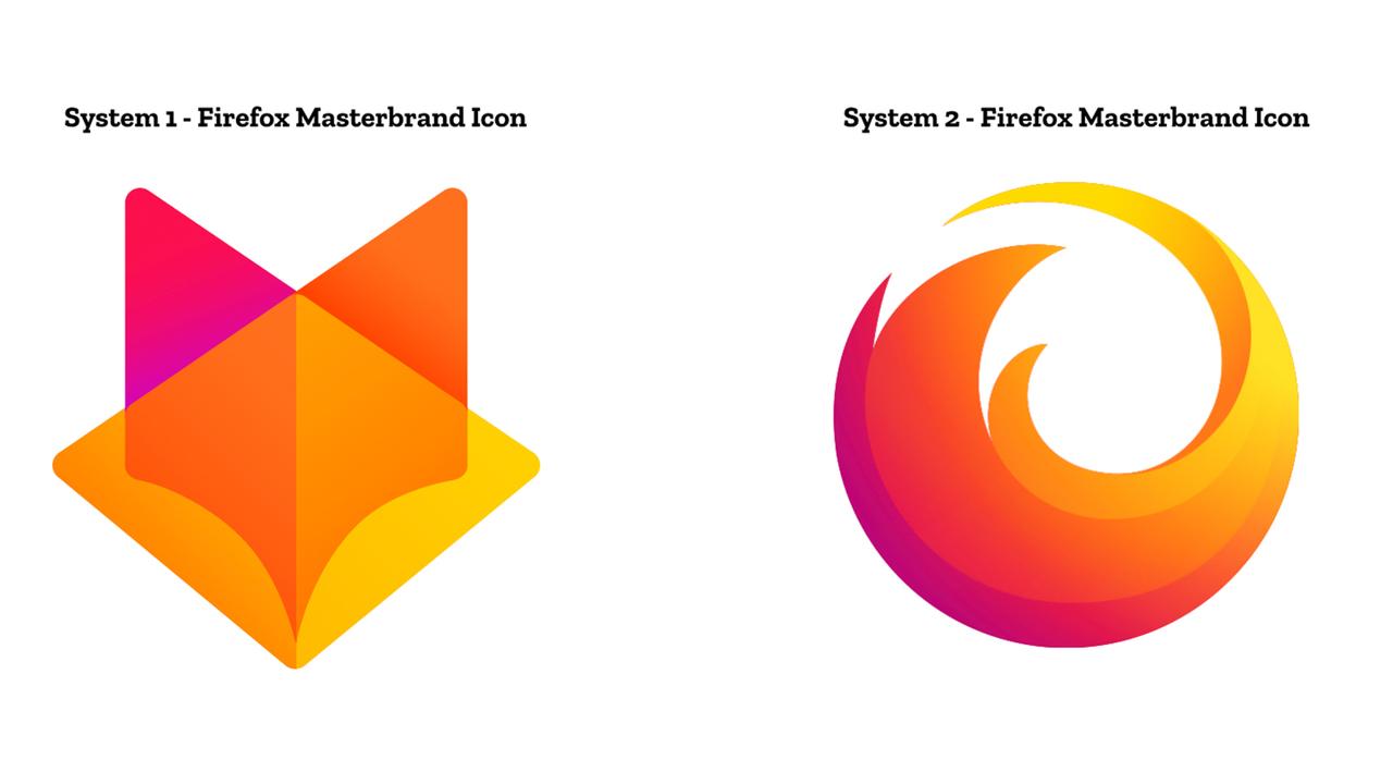 Firefoxが新作ロゴを2案公開「どっちが好き?」