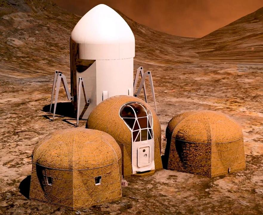 クモ型ロボットが火星に家を産みつける!NASAの火星ハウス・コンペ、上位5チームが決定