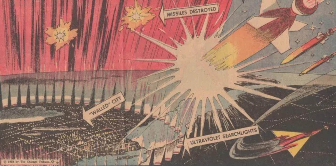 """1959年に考えられていた、街ごと護る""""対ミサイル・バリア"""""""