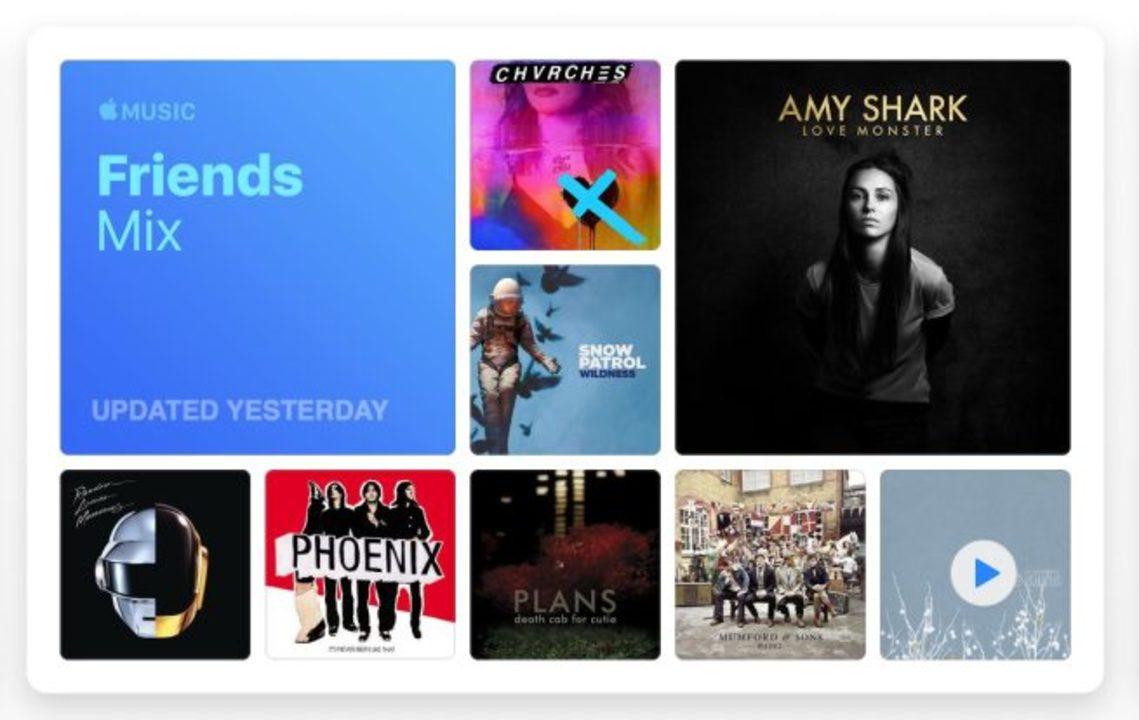 君の好みを知りたい。Apple Musicに「フレンズ・ミックス」が登場したよ