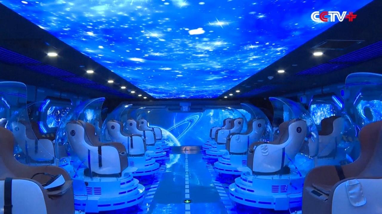 まるで銀河を進む宇宙船。SFみたいなVR映画館が北京でオープン
