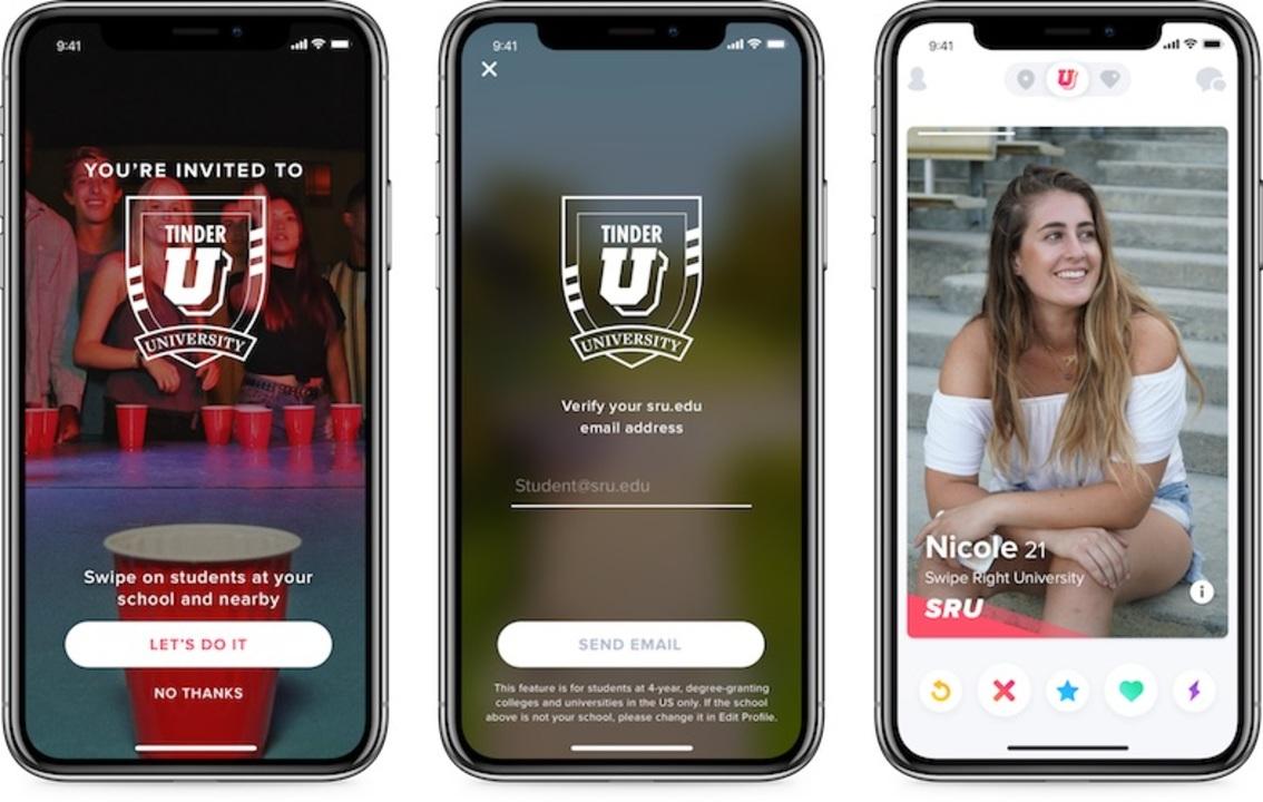 Tinderが大学生限定の新サービス「Tinder U」をスタート!